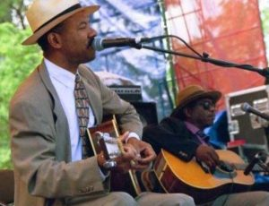 Michael with Philadelphia Jerry Ricks, Chicago Blues Festival 1998